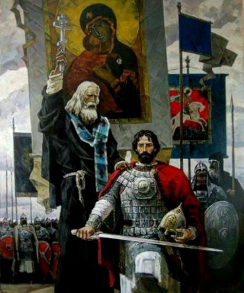 Дмитрий Донской и Сергий Радонежский._600