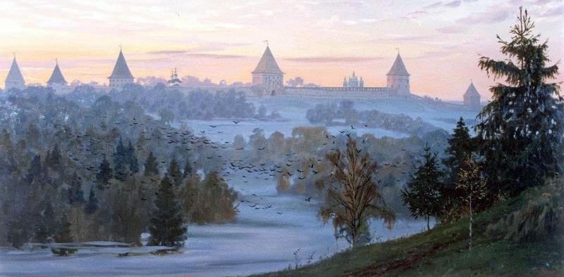 Утро над Смоленском. Худ. С. Ефошкин
