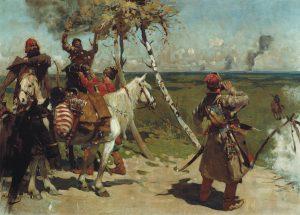 ivanov-sergej-1864-1910-na-storozhevoj-moskovskoj-granitse-holst-maslo