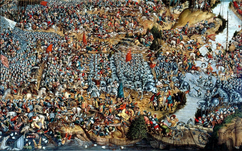 Битва под Оршей, полотно неизвестного автора. Русско-литовская война (1512—1522)