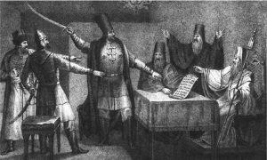 boris-horikov-nachalniki-narodnogo-opolcheniya-1836-g