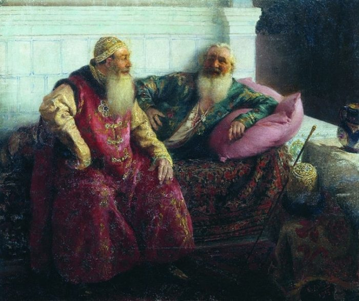 Два старика. Клавдий Лебедев