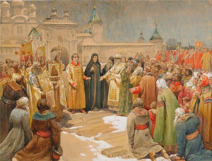 Избрание Михаила Романова в 1613 г. ХУДОЖНИК КЛАВДИЙ ЛЕБЕДЕВ