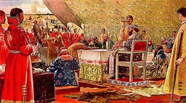 Пир царя Алексея Михайловича с ближними боярами_600