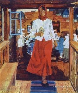 Грошев Евгений Федорович (Россия, 1927) «Агитповозка» 1975