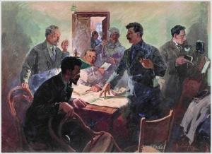 Сварог Василий Семёнович (1883-1946). «Штаб Октября» (1934)
