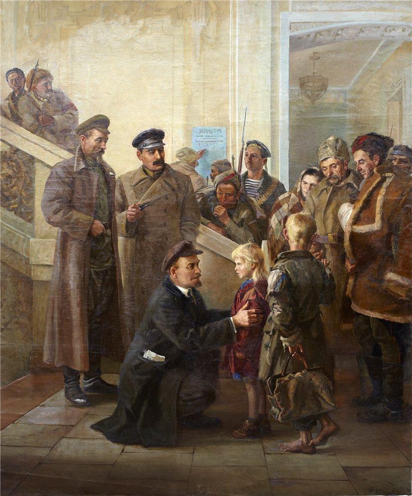 Фотий Кулагин «Для них светлое будущее завоевали» 1951 г.