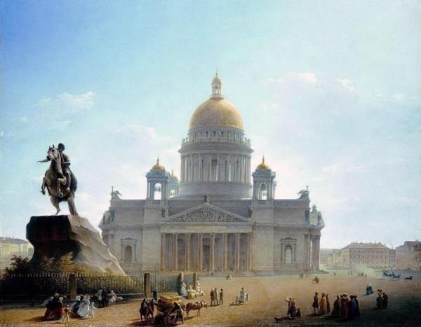 Исаакиевский собор и памятник Петру I. 124046_600