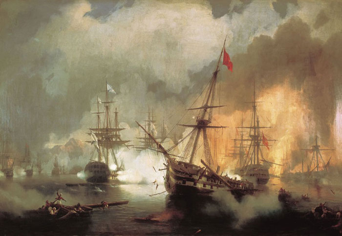 Morskoe-srazhenie-pri-Navarine-ajvazovskij