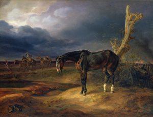 782px-Albrecht_Adam_-_Herrenloses_Pferd_auf_dem_Schlachtfeld_bei_Moschaisk