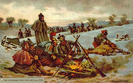 «бивуак отступающей армии наполеона (война 1812 г)»