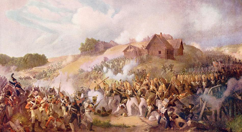 Сражение при Клястицах 19 июля 1812 г. С картины П. Гесса.