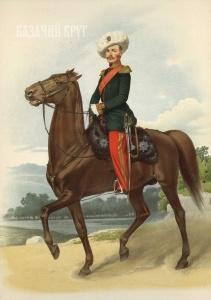 Генералы, числящиеся в армейских казачьих частях (парадная форма). 18 марта 1855 г.