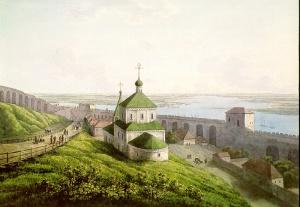Нижний Новгород в 1806 г. на акварели Мартынова