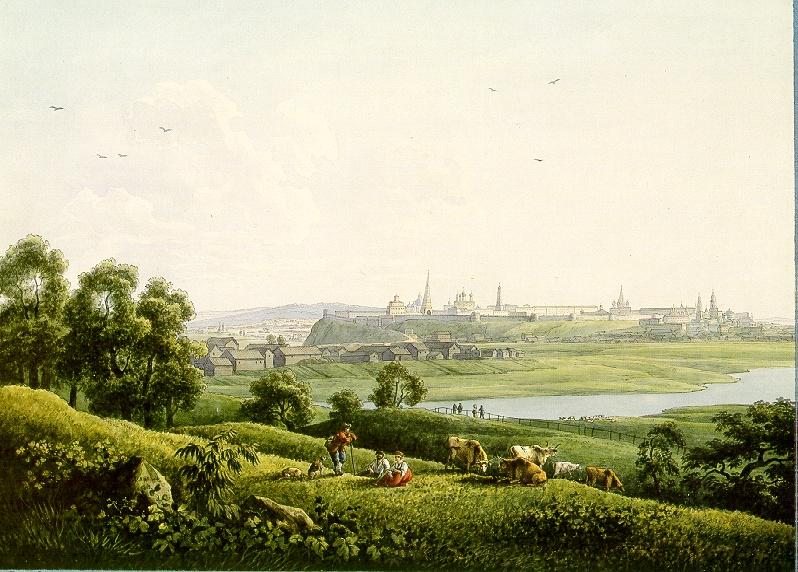 Казань в 1808 на акварели Мартынова