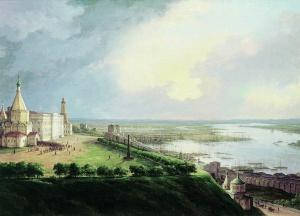 Нижний Новгород в 1837 г. на картине Чернецова