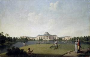 Вид Таврического дворца со стороны сада. Б. Патерсен