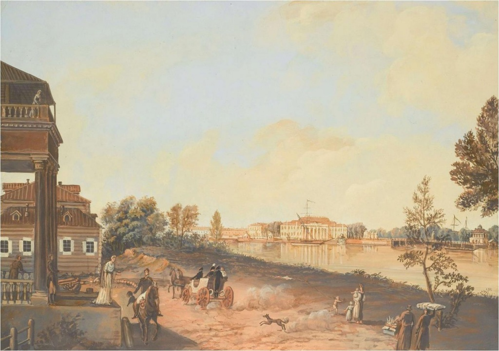 Вид на Каменный остров с дворцом Александра I. Санкт-Петербург в работах Бенжамина Патерсона