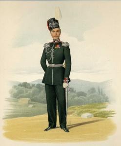 Флигель-адъютант, числящийся в казачьих частях (в парадной форме). 18 марта 1855 г.