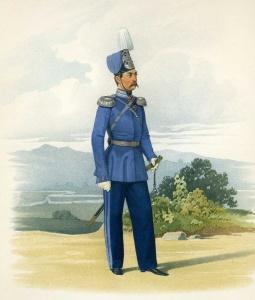 Штаб-офицер лейб-атаманского Е.И.В. Наследника Цесаревича полка (парадная форма). 18 марта 1855 г.