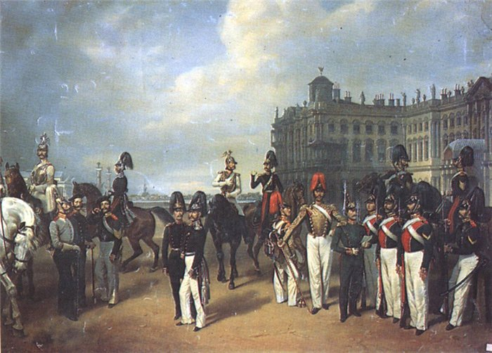 Гвардия перед Зимним дворцом Худ. Ф. Крюгер. 1853 г.
