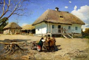 Васильковский Сергей   (1854-1917). Кaзачий двор