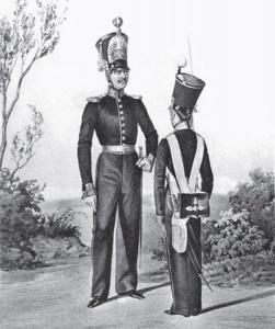 Обер-офицер 1-го Кадетского корпуса и унтер-офицер Дворянского полка в 1833–1844 гг.