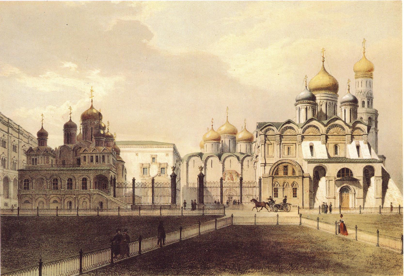 1846. Вид соборов в Кремле