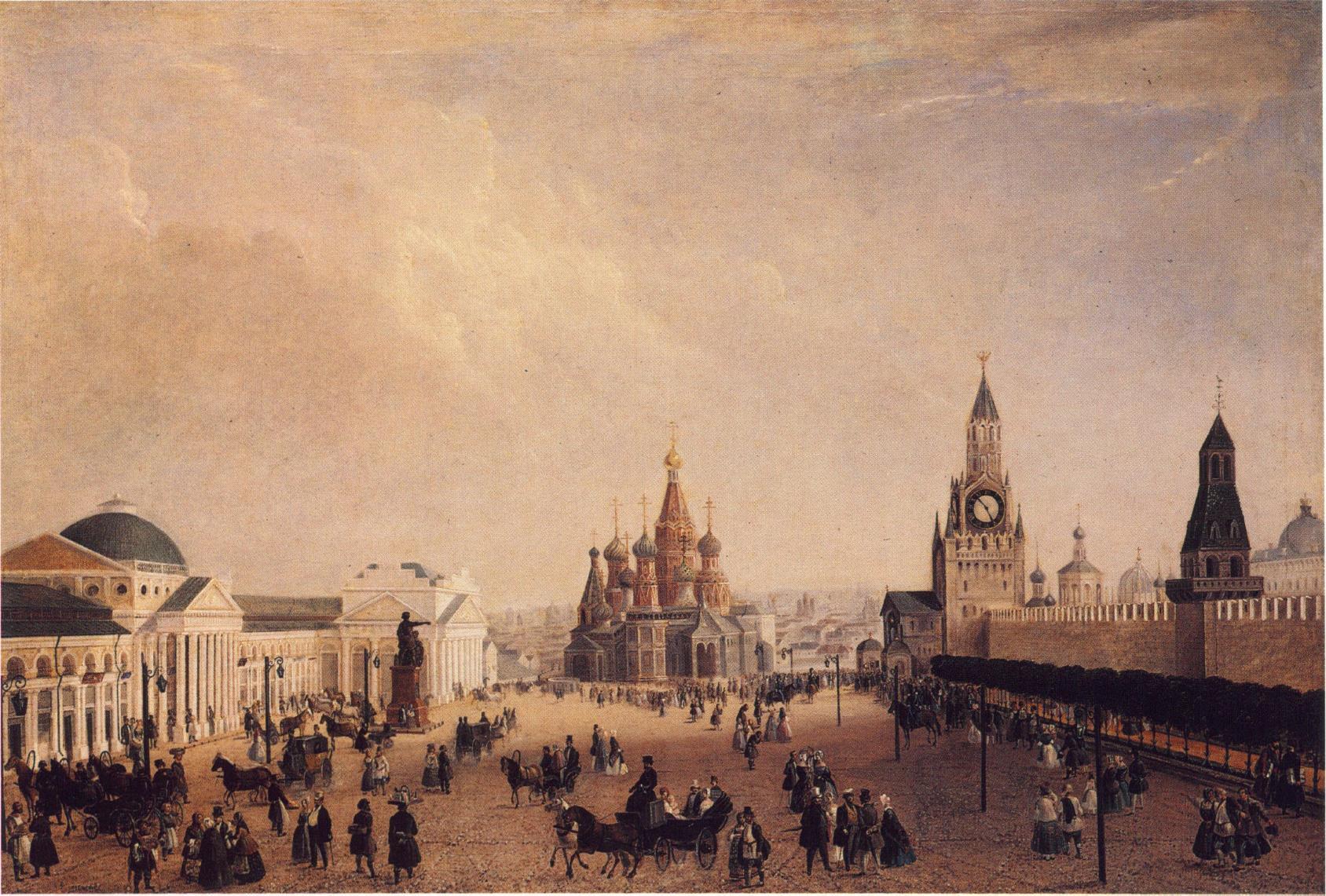 1820-е. Красная площадь. Москва в живописных работах и графике
