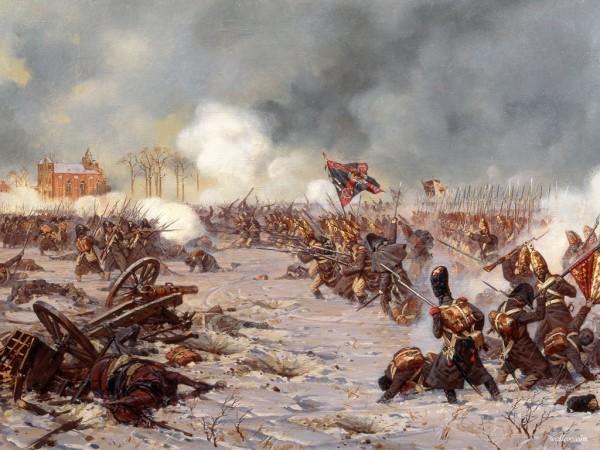 Ю. Аверьянов. Сражение под Прейсиш-Эйлау 27 января (8 февраля) 1807 г. Атака Московского полка
