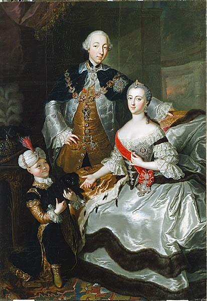 Anna_Rosina_de_Gasc,_Le_grand-duc_Pierre_Fiodorovitch,_la_grande-duchesse_Catherine_Alexeïevna_et_un_page_(1756)