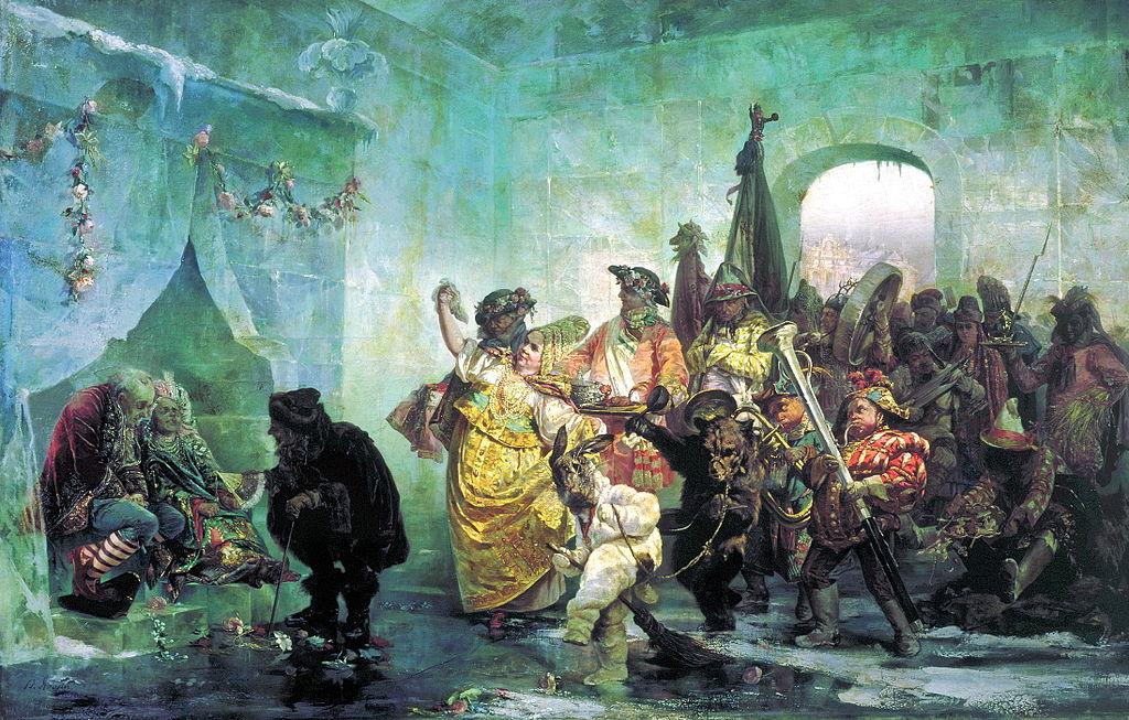В. Якоби. «Ледяной дом», 1878. Государственный Русский музей.