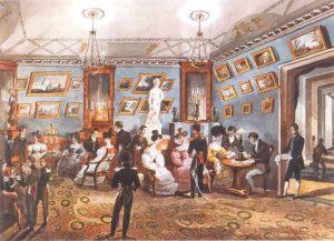 Великосветский салон. Неизвестный художник. 1830-е годы
