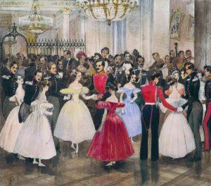 Г. Г. Гагарин. Бал у княгини М. Ф. Барятинской. 1830 г.