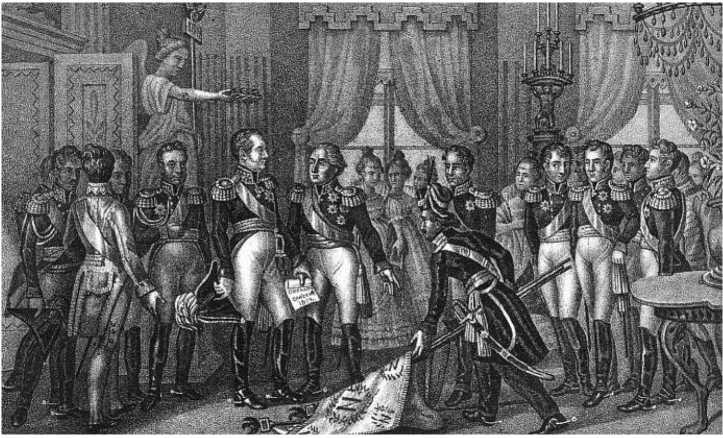 «Уже нет ни единого врага..». Император Александр I в Вильне 1812 года. Иванов с рисунка Чорикова Б