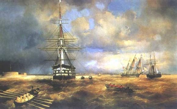 Кронштадтский рейд - Иван Айвазовский.1840