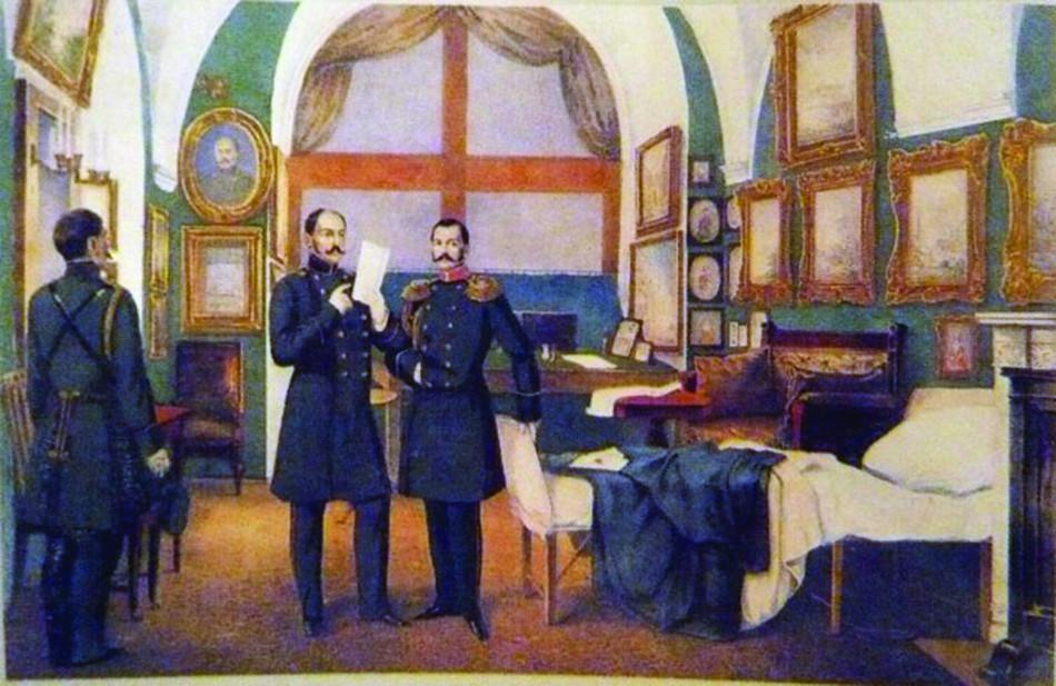 izvestiya-iz-sevastopolya-litografiya-a-a-kozlova-raskrashennaya-akvarel-1854-55