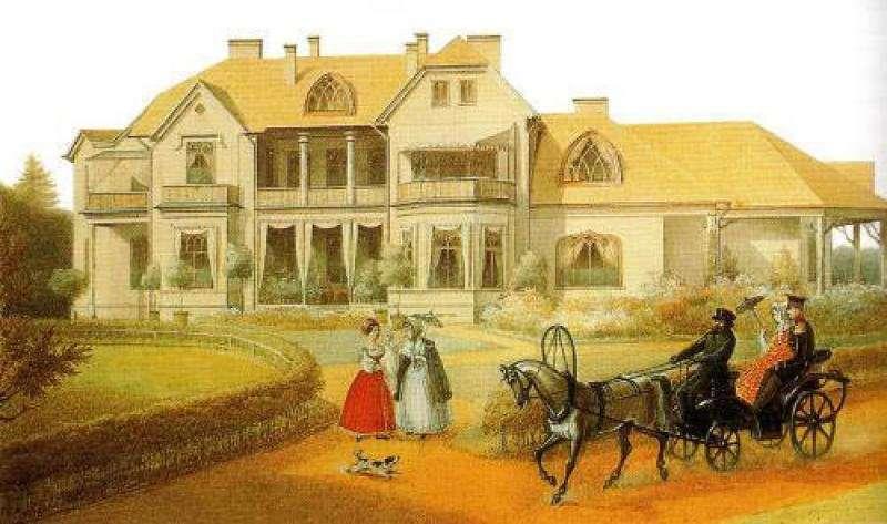 Э. Гау, Фермерский дворец в Петергофе, середина XIX-го века