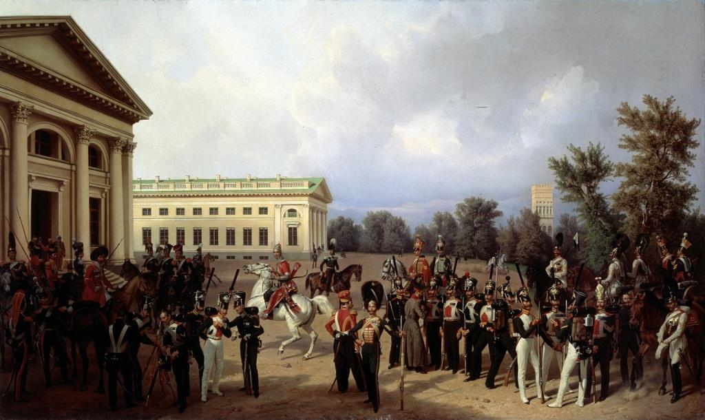 erm-0121-franz-kruger-russkaya-gvardiya-v-tsarskom-sele-v-1832-godu-1841-thehermitage-st-petersburg