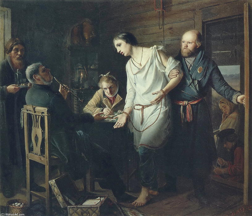 Vasily-Perov-Arriving-at-an-the-inquiry