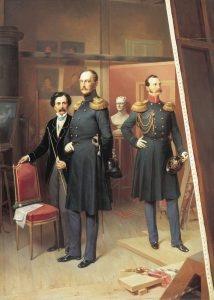 Bogdan_Villevalde_Nicholas_I_of_Russia_and_Alexander_Nikolayevich_in_1854-214x300
