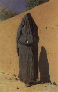 Узбекская женщина в Ташкенте1873. Лебедев А., Солодовников А. Василий Васильевич Верещагин. – Л., 1987