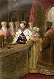 Крамской И.Н. Причащение святых тайн государя императора