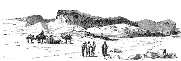 Н. Н. Каразин (с наброска Спиридонова и Гринева). Бендессен (гора, на которой убит доктор Студитский). 1880 год.