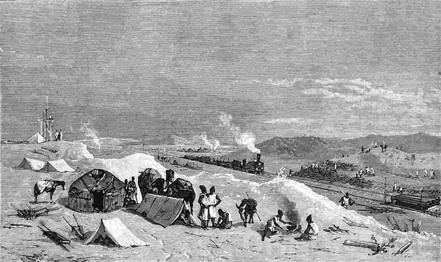 Пробный поезд Закаспийской военной железной дороги