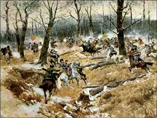 Смерть генерала Слепцова в бою 10 декабря 1851 года.Франц Алексеевич Рубо