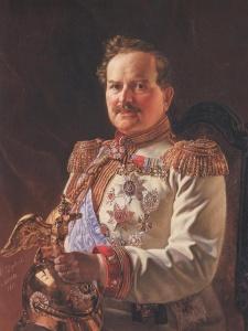 Шервуд В.О. Портрет московского генерал-губернатора князя В.А. Долгорукова в мундире Лейб-гвардии Конного полка. 1882.