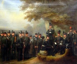 Группа чинов 10-й, 11-й, 12-й пехотных дивизий. Автор: Гебенс А.И. 1869
