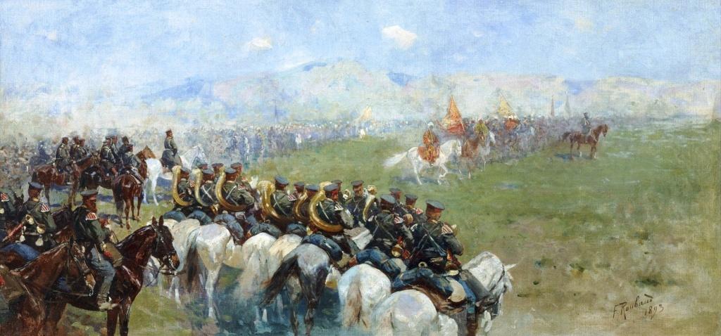 Франц Рубо. «Смотр войск Александром III». 1893.