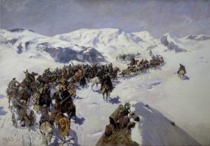 Переход князя Аргутинского через Кавказский хребет. Ф. Рубо